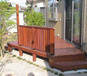 ウリン 屋外家具(椅子テーブル) 第1回 応募作品 施工例