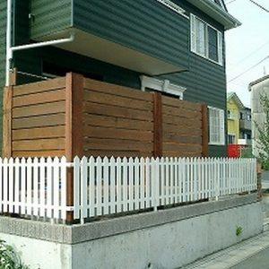 フェンス 枕木 第2回 応募作品 施工例