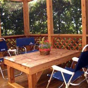 サイプレス 屋外家具(椅子テーブル) 第3回 応募作品 施工例
