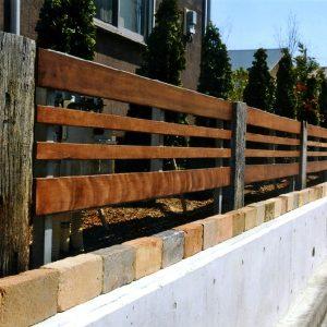 イタウバ ウリン サイプレス フェンス 枕木 第6回 応募作品 施工例